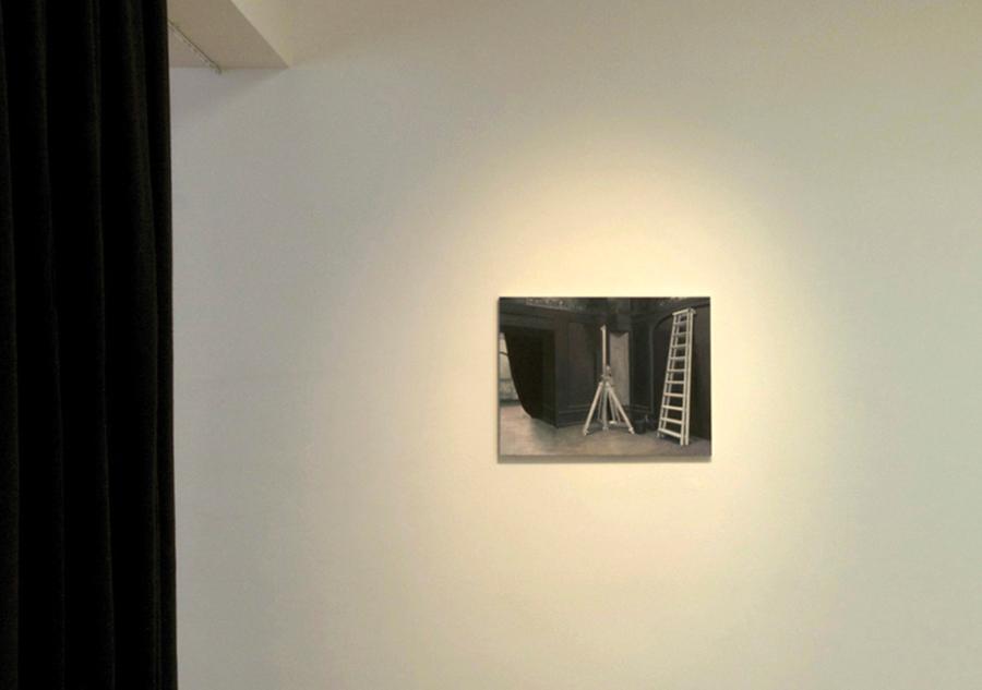 Installationsbild.med svart molton
